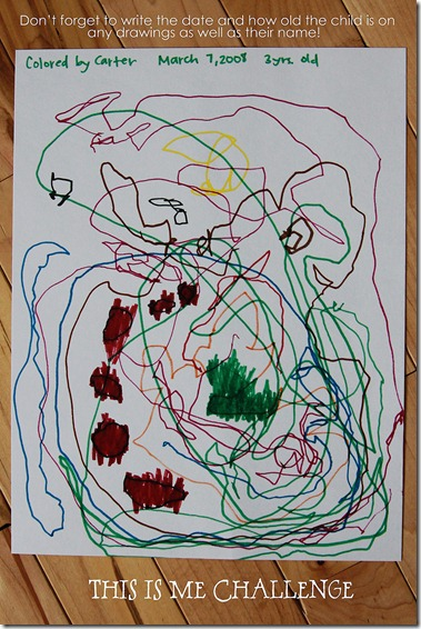 Toddler's Drawing