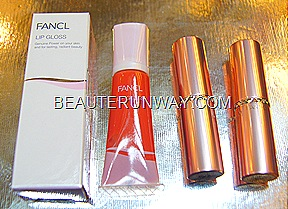 Fancl Moisture Rouge and lip gloss