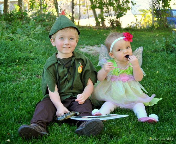 Peter Pan and Tinkerbell Costumes