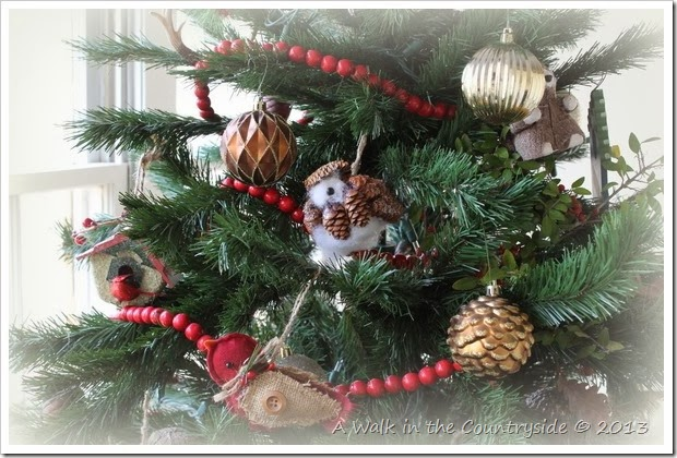 woodland rustic christmas tree