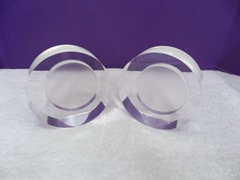 Pair of sculptural acrylic bookends