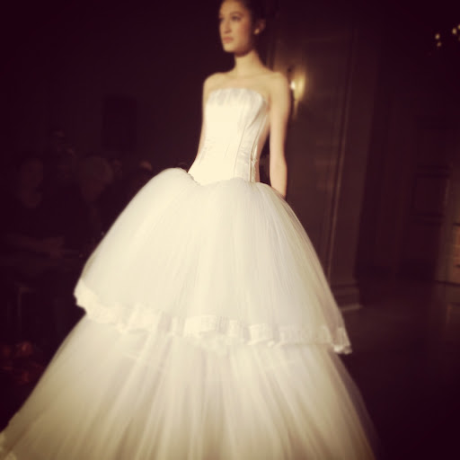 The tiers on this ball gown give it some added volume.