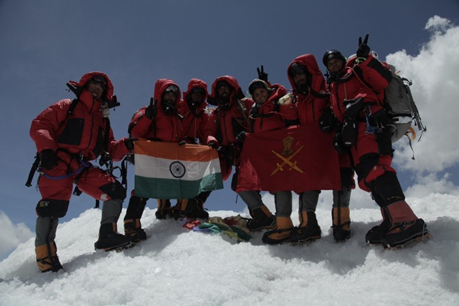 A team of primarily women officers of the Indian Army that climbed the Mount Everest