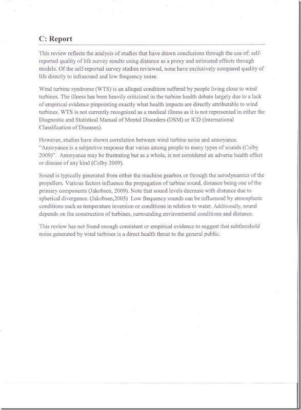 BC Health Staff Report on WInd Turbine sound 3of 4