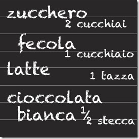 cioccolata bianca in tazza - dosi