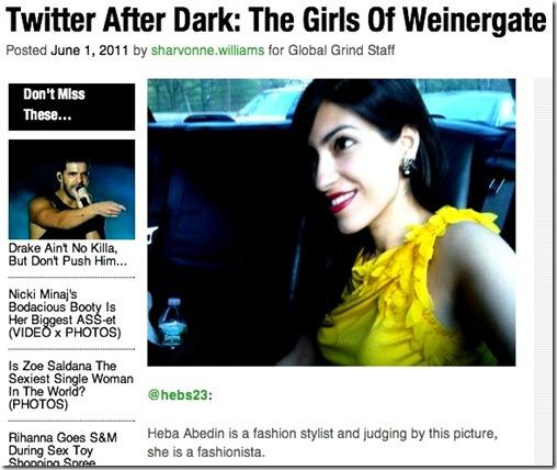 Heba Abedin - Girls of Weinergate 6-1-11 (Huma's Sister)