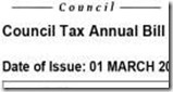 Council tax bill with numbers