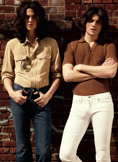 Miles McMillan + Matt Clunan by Jason Kim for OUT, May 2012.  Stylist | Grant Woolhead