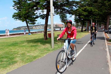 Obiective turistice Sydney: Cu bicicleta prin parcurile naturale de pe coasta