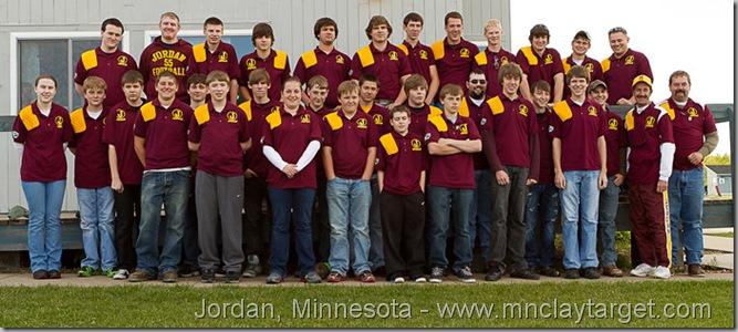 2012 Jordan, Minnesota High School Trap Shooting Team