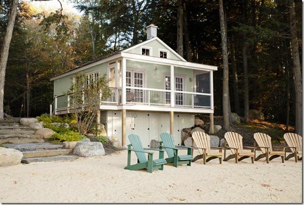 Piccoli spazi cottage sul lago 46 mq case e interni for Planimetrie aggiunte casa