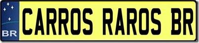 Logo Carros Raros BR NOVO Placa padrão mercosul Base 2 (medium)