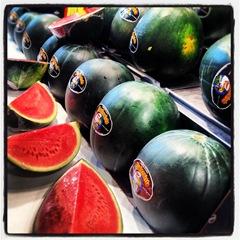 watermelon at la Boqueria