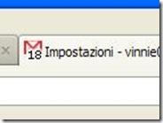 Gmail mostrare il numero delle email ricevute da leggere nella scheda internet