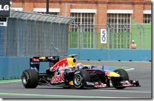 Webber nelle prove libere del gran premio d'Europa 2011