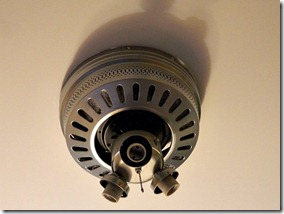 Ceiling Fan Makeover motor painted silver