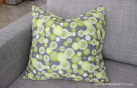 Pillow on Loveseat from www.simpleispretty.com