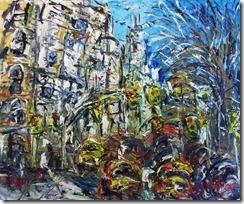 Kappmeier central park west nyc oil on canvas 32x44