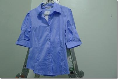 short baby blue blouse