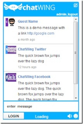 Chatwing&#39;s Chatbox Demo