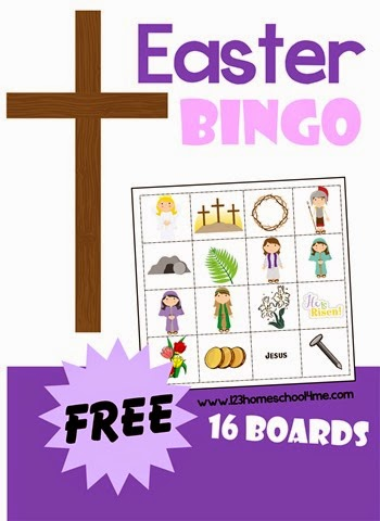 Easter Bingo - free printable game for sunday school kids