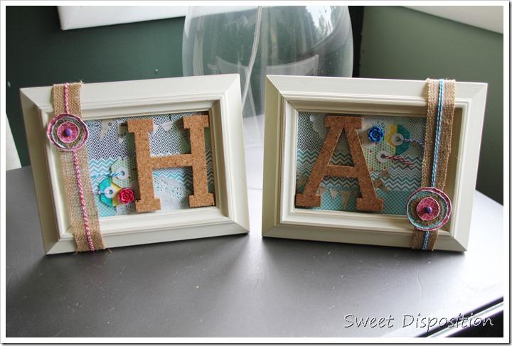 Monogram Letter Frames 2