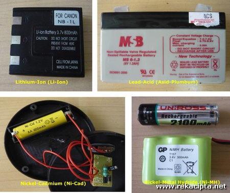 Rekacipta.net - contoh bateri boleh dicas semula