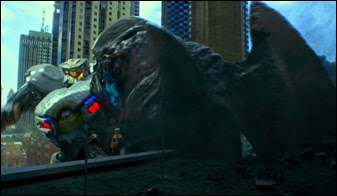 Striker Eureka the ultimate Kaiju azz whooping machine whacking the crap out of a category 4 Kaiju Just Like That !