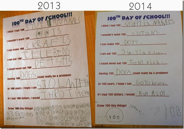 Hundredth Day of School Writing Prompts And Other Activities