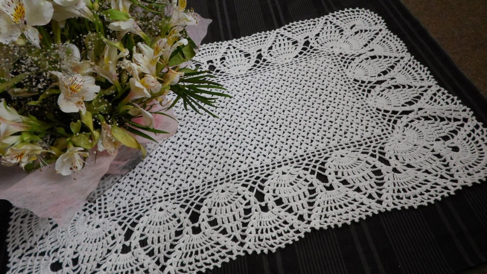 Patrones ganchillo mantel rectangular paso fotos pictures - Mantel de crochet ...