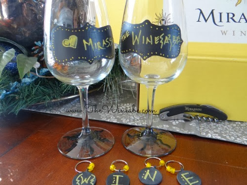 mirassou wine chalk paint and charms