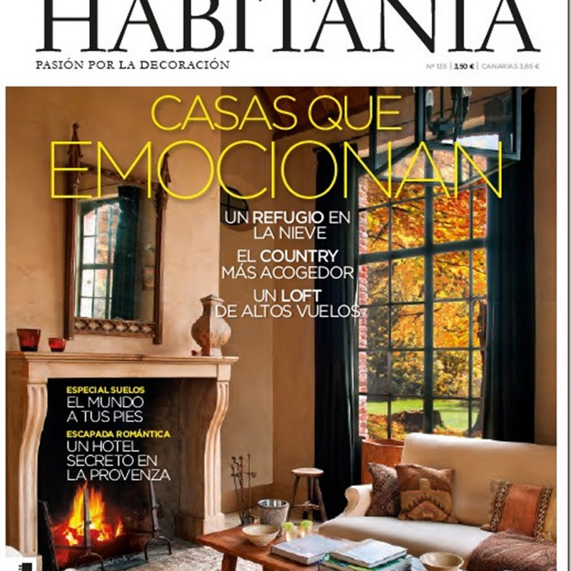 LEFEVRE INTERIORS on the COVER of latest issue HABITANIA