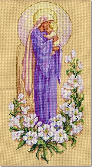 virgen con niño punto de cruz (4)