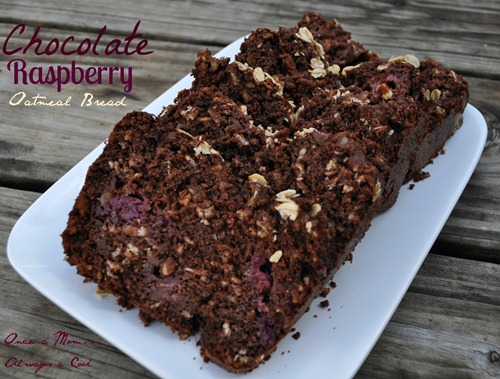 Chocolate Raspberry Oatmeal Bread