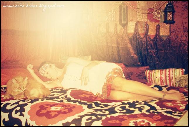 sleeping boho