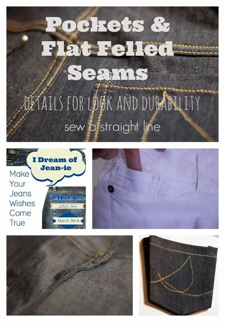 pockets flat felled seams sew a straight line jeans