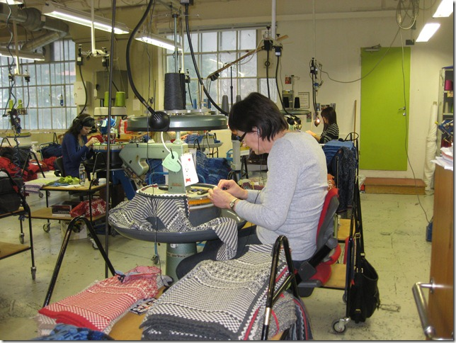 making sweaters in Oleana factory Bergen Norway