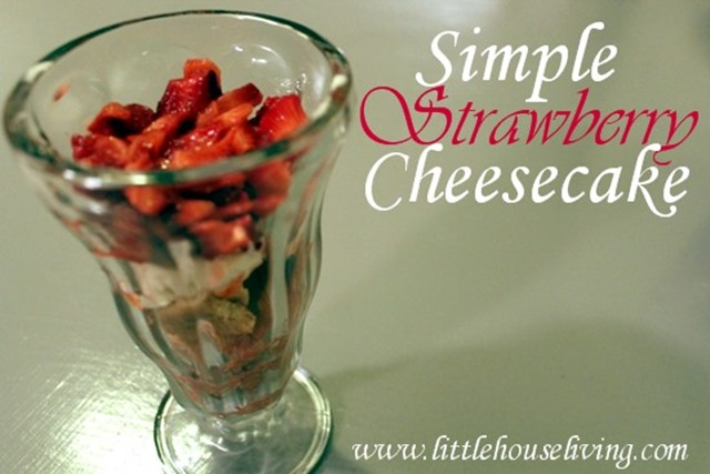 simple strawberry cheesecake