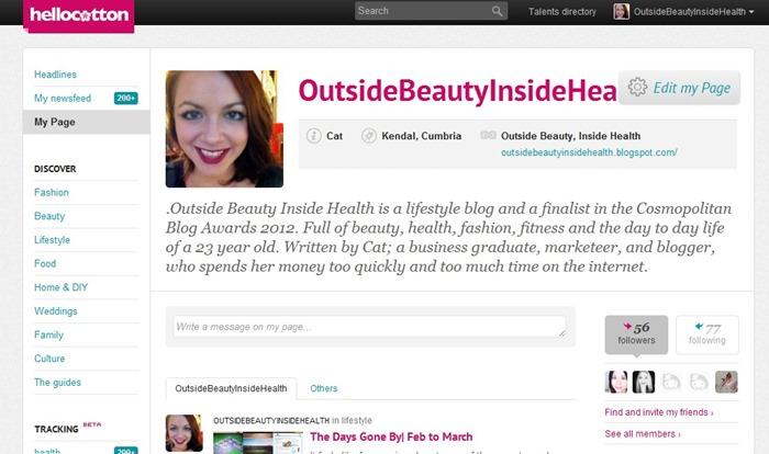Hello Cotton Outside Beauty Inside health