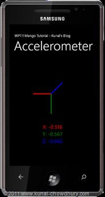 WP7.1 Demo - Accelorometer Demo