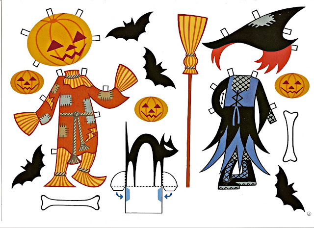 Halloween mu ecas recortables con disfraces - Recortables de halloween ...