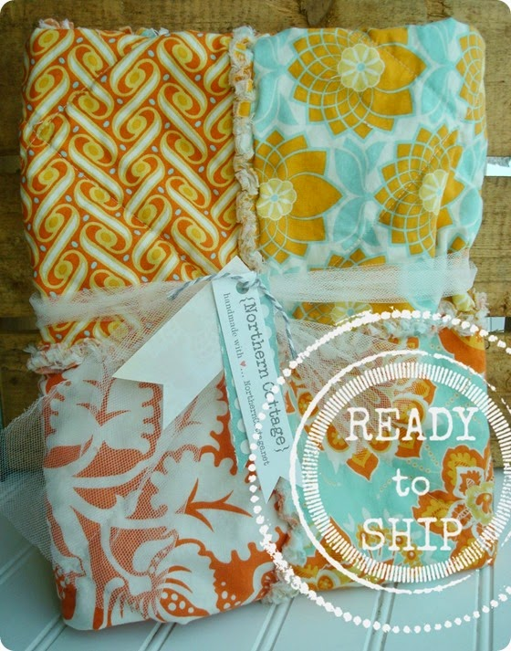 {Northern Cottage} aqua orange boutique quilt