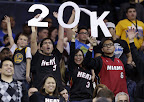 lebron james nba 130116 mia at gsw 20 King James Becomes Youngest to 20k Points in LeBron X PE