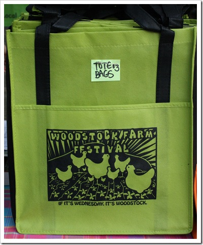 tote bag, woodstock farm festival