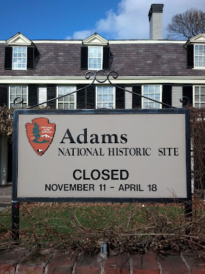 Adams National Historic Site, Closed