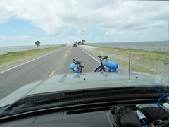 Riding along 109 miles of beaches