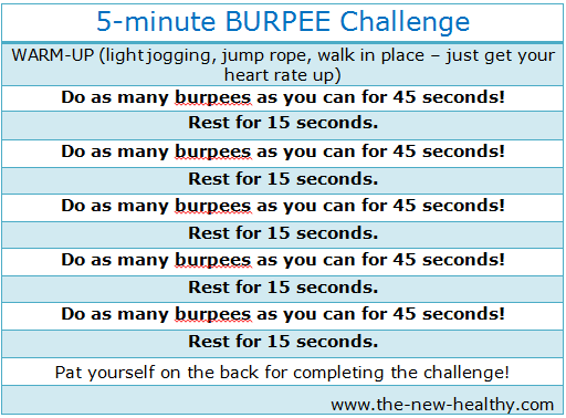 Sweat it out BURPEE challenge