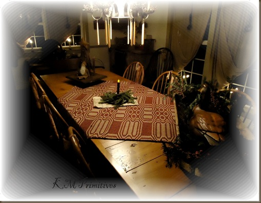 Dining room table christmas 2