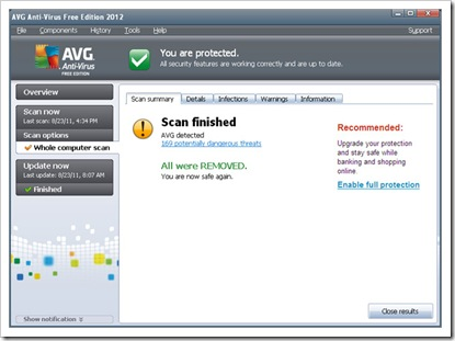 scan Anti Virus AVG 2012 full License_filetoshared