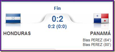 Honduras 0-2 Panamá